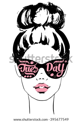 women face with sunglasses