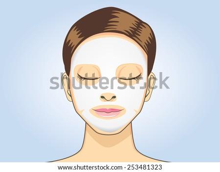 women facial sheet mask in