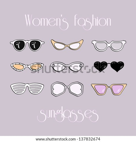 women fashion isolated