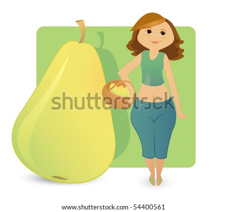 Women figure types: sweet pear