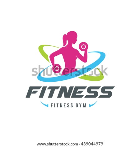 women fitness logo gym logo