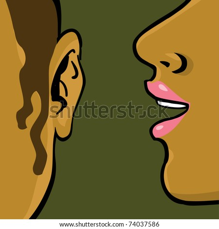 women gossip, drawing illustration - stock vector