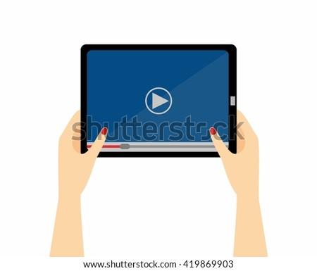 women hands holds smartphone