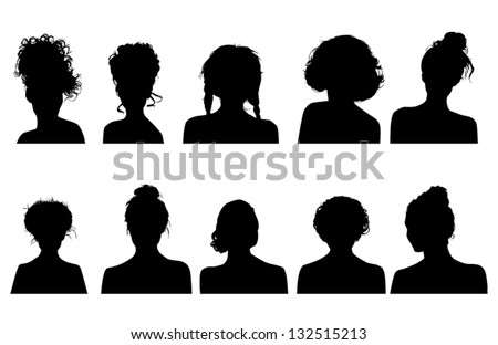 head silhouettes front download free vector art stock graphics