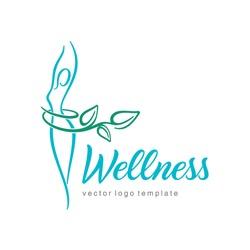 Women health and wellness vector logo design template.