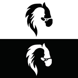 Women in horse vector logo design