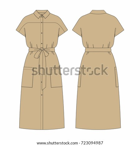 women long dress with belt and