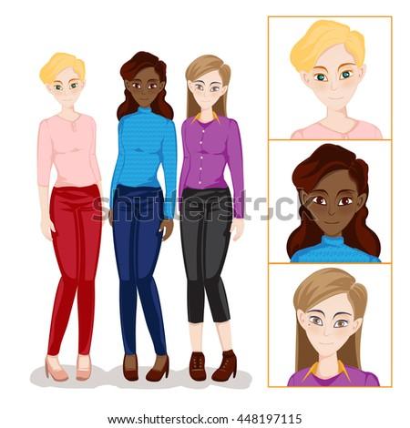 women nationality set