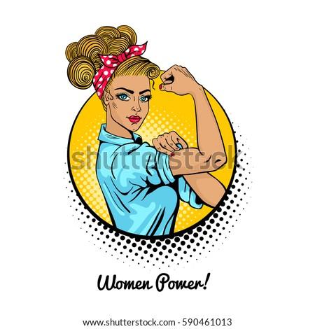 women power pop art sexy