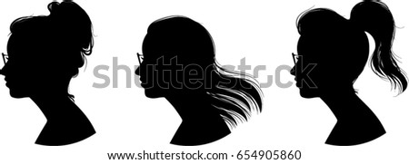women profile silhouettes