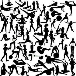 women  recreation(pilates-yoga-aerobic-running)
