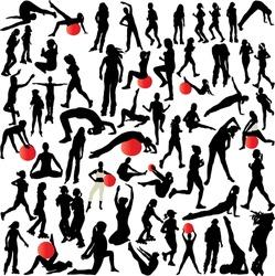 women recreation(plates- yoga-aerobic-running)