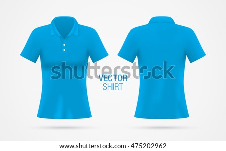 women's blue vector polo shirt
