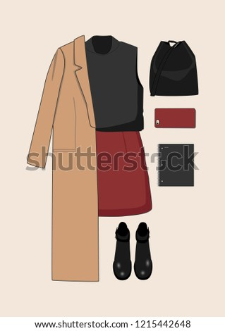 Women's clothing collection. Collection for students.