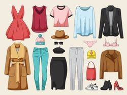 Women's clothing collection. Winter looks