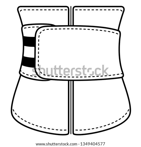 Women's corset. Slimming belt. Vector outline icon isolated on white background. Сток-фото ©