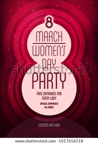 women's day party poster