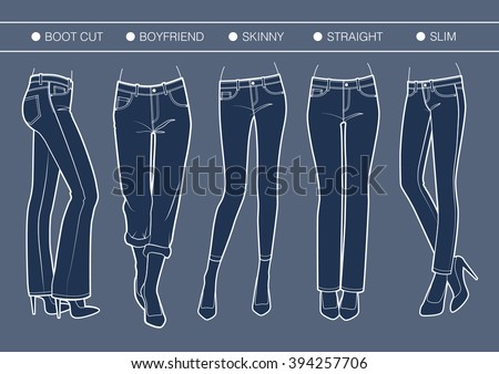 women's denim fits trousers'