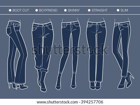 women's denim fits trousers'