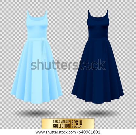 women's dress mockup collection
