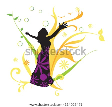 Women's Health, vector illustration