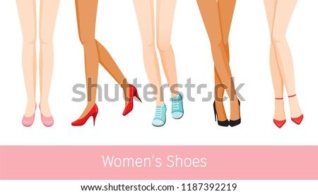 women s legs with different