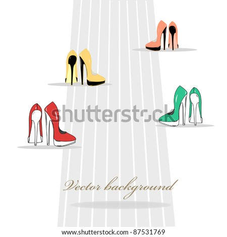 women's shoes on the road