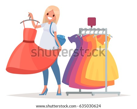 women's shopping the girl is