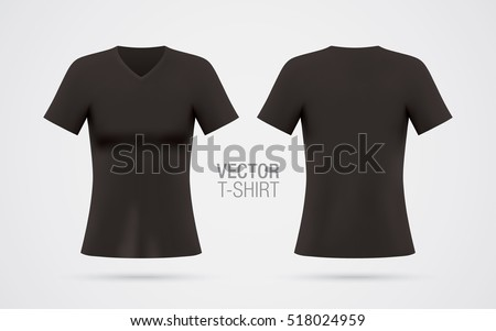 women's v neck t shirt vector