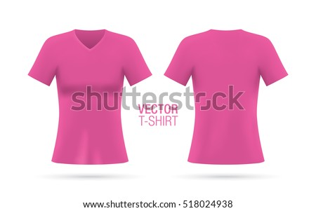 Girls shirt free vectors download 110 free vector for Pink t shirt template