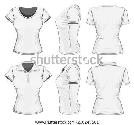 Girls T-Shirts Template Vectors - Download Free Vector Art, Stock ...