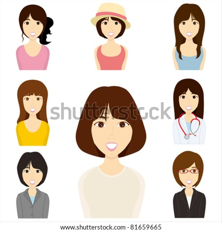 women set illustration vector