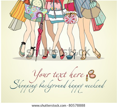 women shopping background