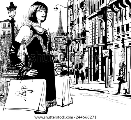 women shopping in paris