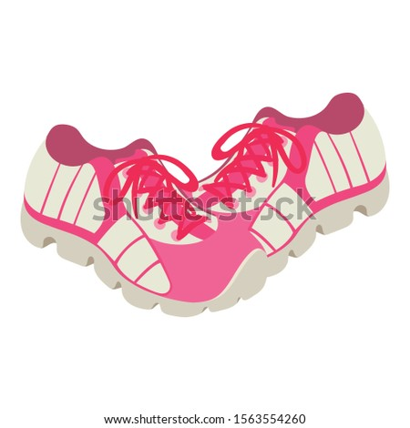 Women sneakers icon. Isometric illustration of women sneakers vector icon for web