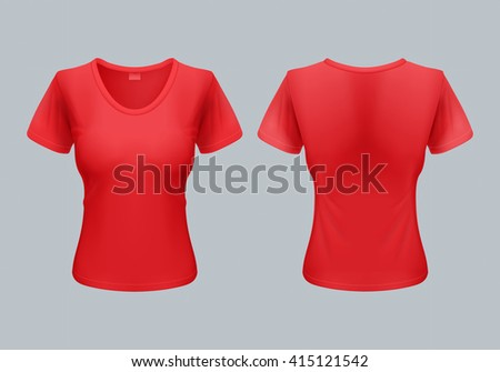 women t shirt template back and