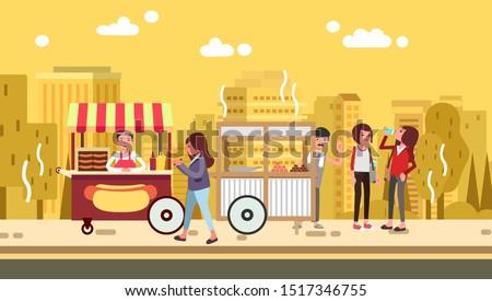 women take a walk in street