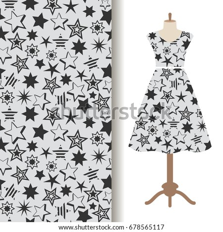 womens dress fabric pattern