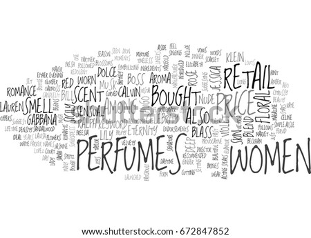 womens perfumes text word cloud