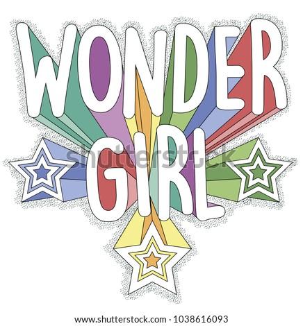 wonder girl  vector graphics