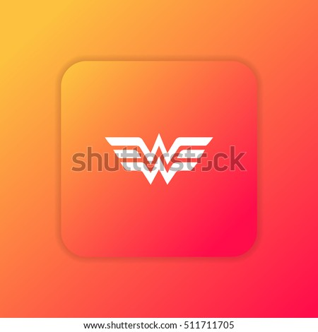 wonder woman orange bright app