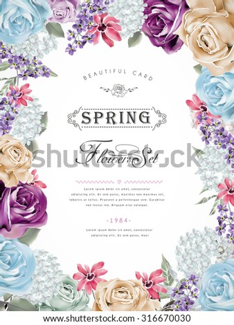 wonderful floral poster design