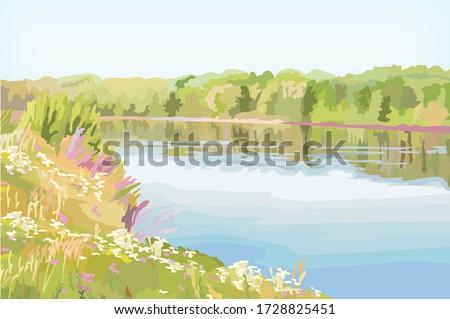 wonderful natural long river