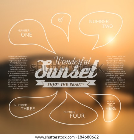 wonderful sunset text lettering