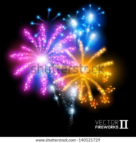 Wonderful Vector Fireworks More beautiful vector fireworks Vector illustration