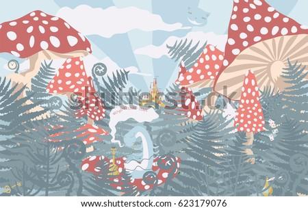 wonderland background