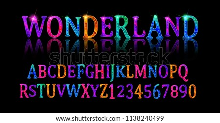 wonderland font fairy abc set