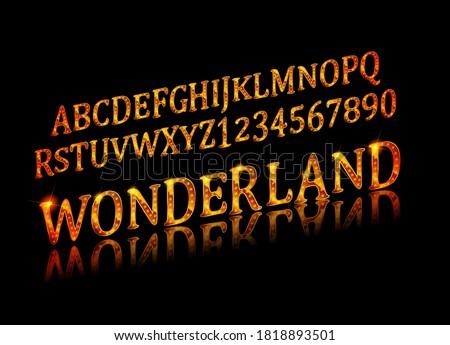 wonderland font fairy abc set