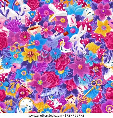 wonderland seamless pattern