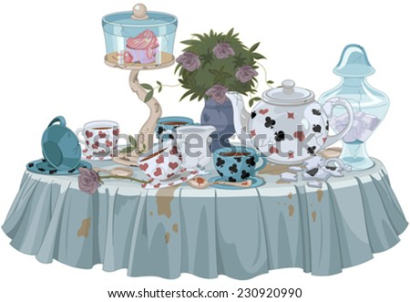 wonderland tea party decorated